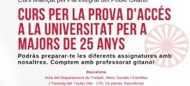 S'obren les inscripcions pel Grup d'Accés a la Universitat del Pla Integral del Poble Gitano a Catalunya